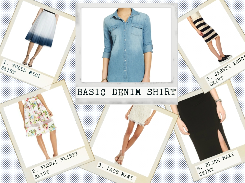 5 ways to wear a denim top