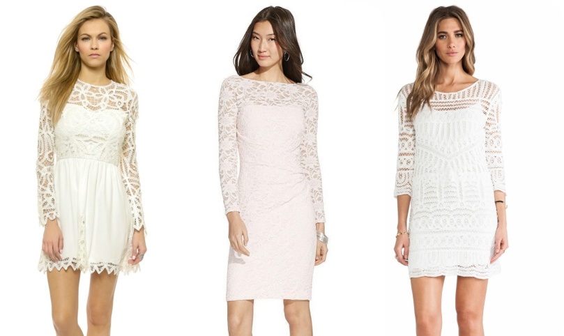Lace and crochet dresses
