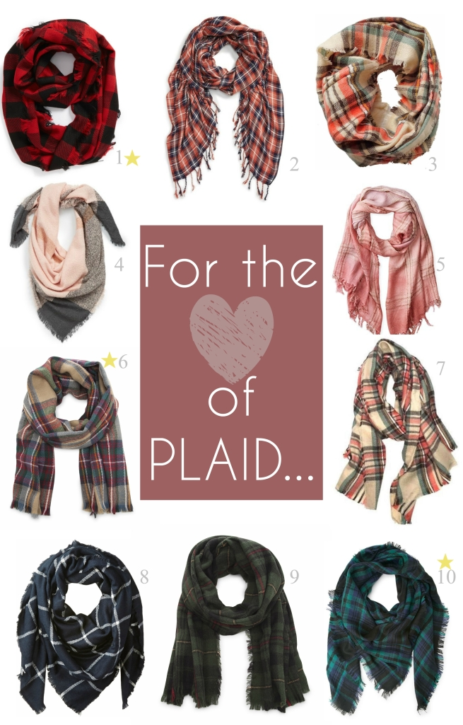Plaid wraps for fall